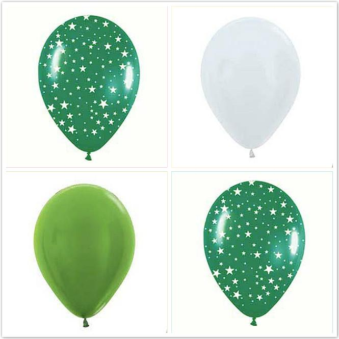 Stary Safari Green Balloon 12ct Sempertex 12-inches