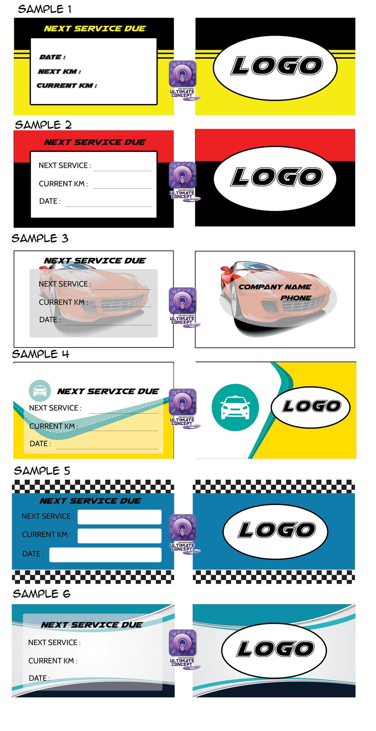 Car Service Due Stickers Kamos Sticker