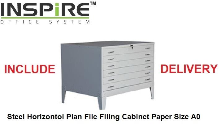 Steel Horizontal Plan File Filing Cabinet Size A0