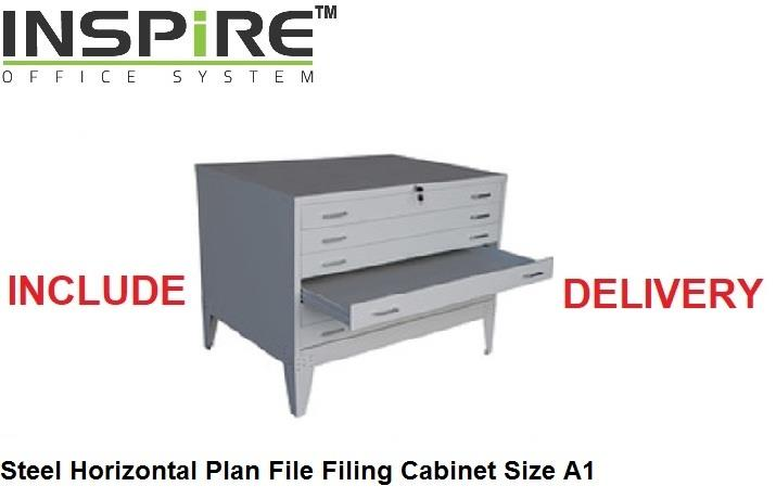 Steel Horizontal Plan File Filing Cabinet Size A1