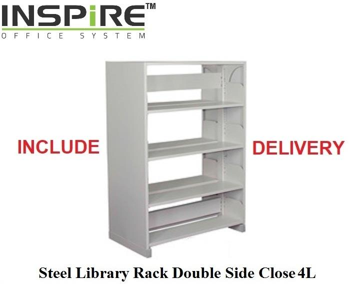 Steel Library Rack Double Side Close 4L