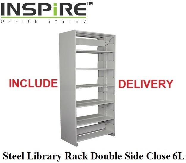 Steel Library Rack Double Side Close 6L