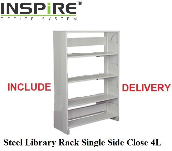 Steel Library Rack Single Side Close 4L