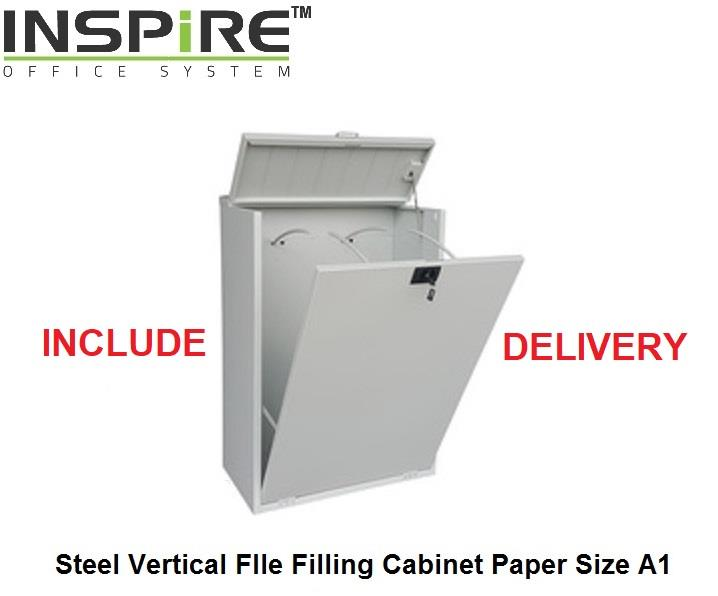 Steel Vertical Plan File Filing Cabinet Size A1
