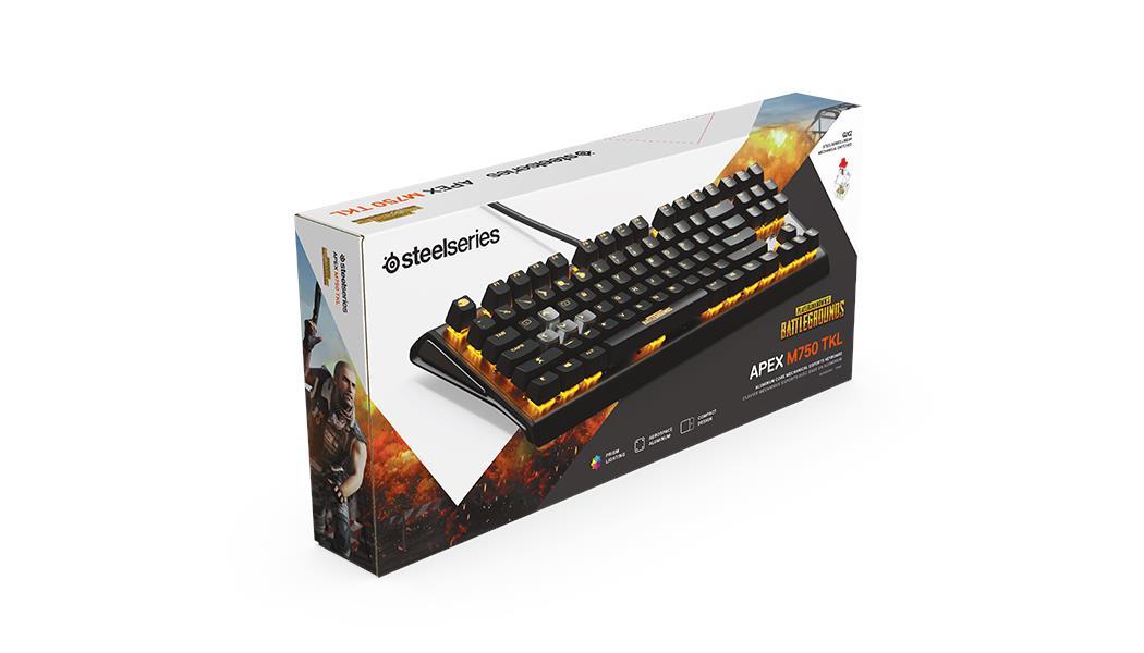 4f2f6db5884 SteelSeries Apex M750 TKL PUBG Edition RGB Mechanical Keyboard (64726)