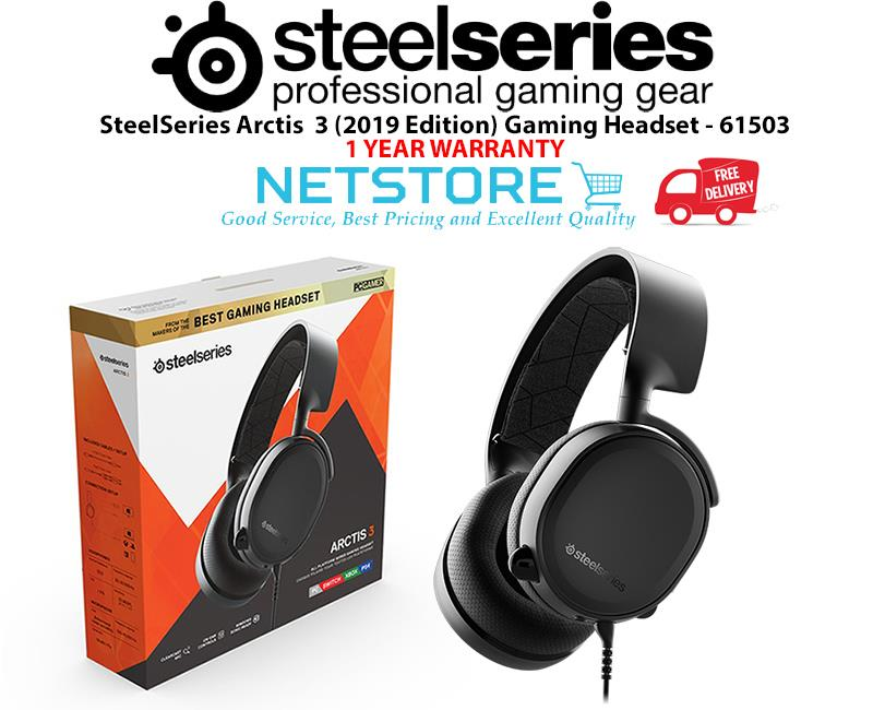b60c5f01a90 SteelSeries Arctis 3 (2019 Edition) Gaming Headset - Black (61503)