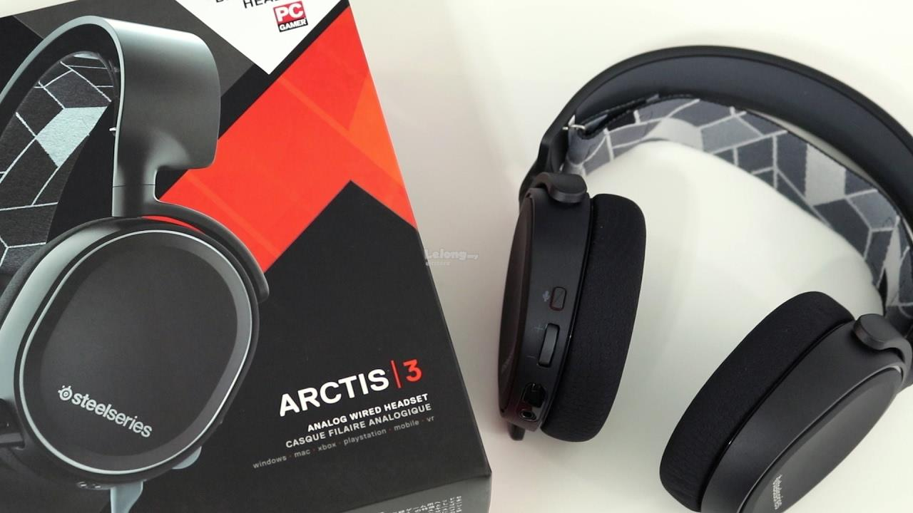5a62626395a STEELSERIES ARCTIS 3 BLACK 7.1 SURROUND GAMING HEADSET 61433