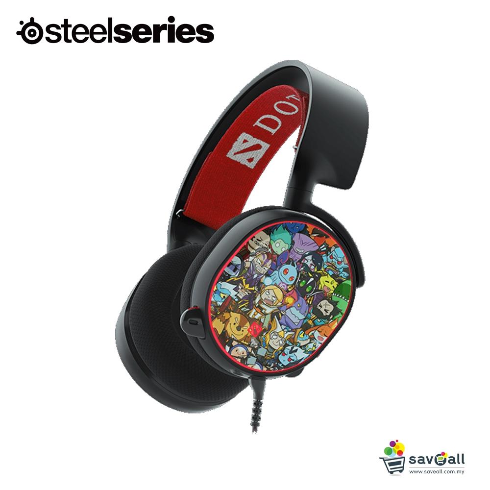 SteelSeries Arctis 5 Dota 2 Edition RGB 7 1 DTS Headphone:X (61445)