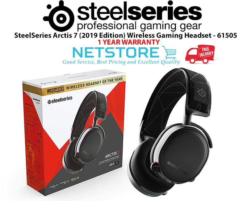 00cdfbc4608 SteelSeries Arctis 7 2019 Edition Wireless Gaming Headset Black 61505. ‹ ›