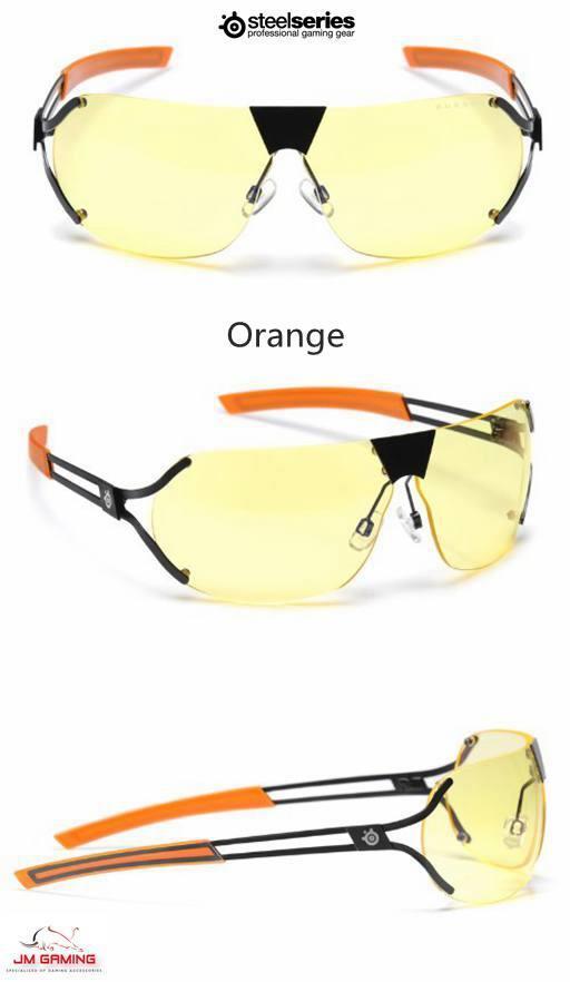 SteelSeries Desmo Semi-Rimless Ad Video Gaming Glasses Amber Lens Tint ebbba6e97e