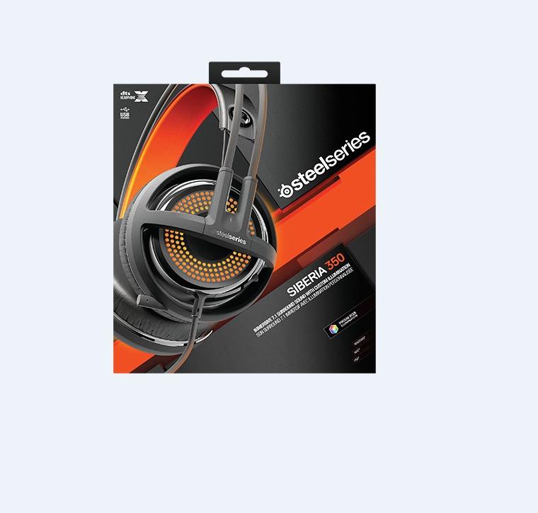 89912e1e3a7 STEELSERIES Headset Wired USB SIBERIA 350 RGB PN51202 / 51202 BLACK. ‹ ›