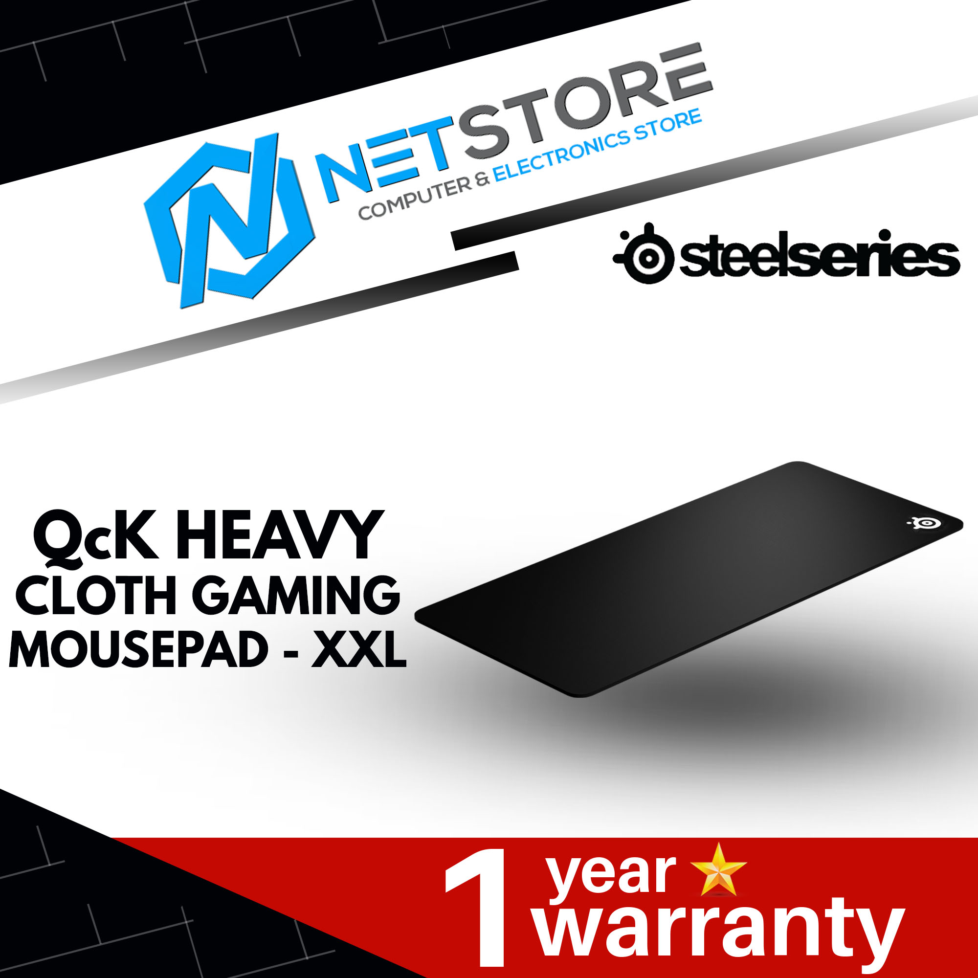 STEELSERIES QCK HEAVY SERIES CLOTH GAMING MOUSE PAD - XXL - 67500