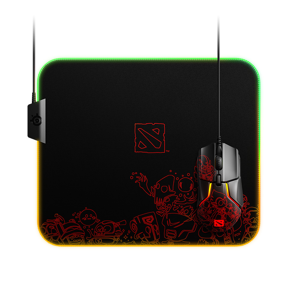 SteelSeries QcK Prism Dota 2 Edition RGB Gaming Mouse Pad (63832)