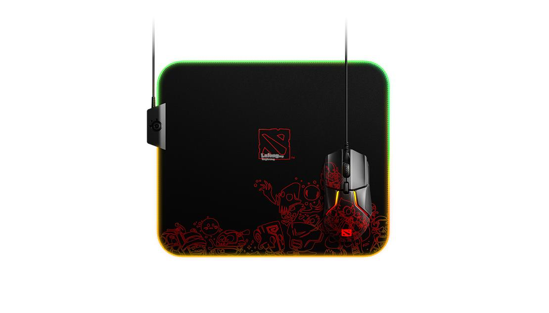 # STEELSERIES Qck Prism Dota 2 Edition RGB Mouse Pad #