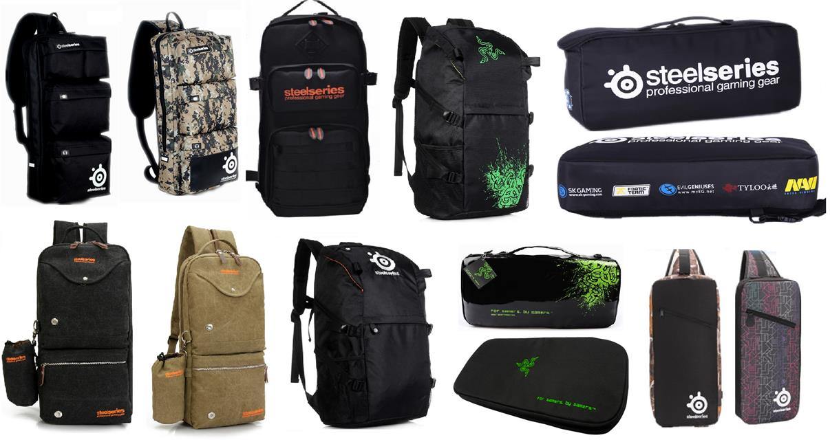 Steelseries Razer Gaming Backpack Bag Mouse Keyboard Headset