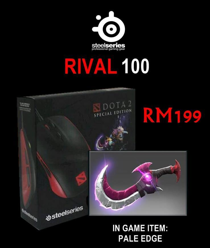 SteelSeries Rival 100 Dota 2 Speical Edition Mouse