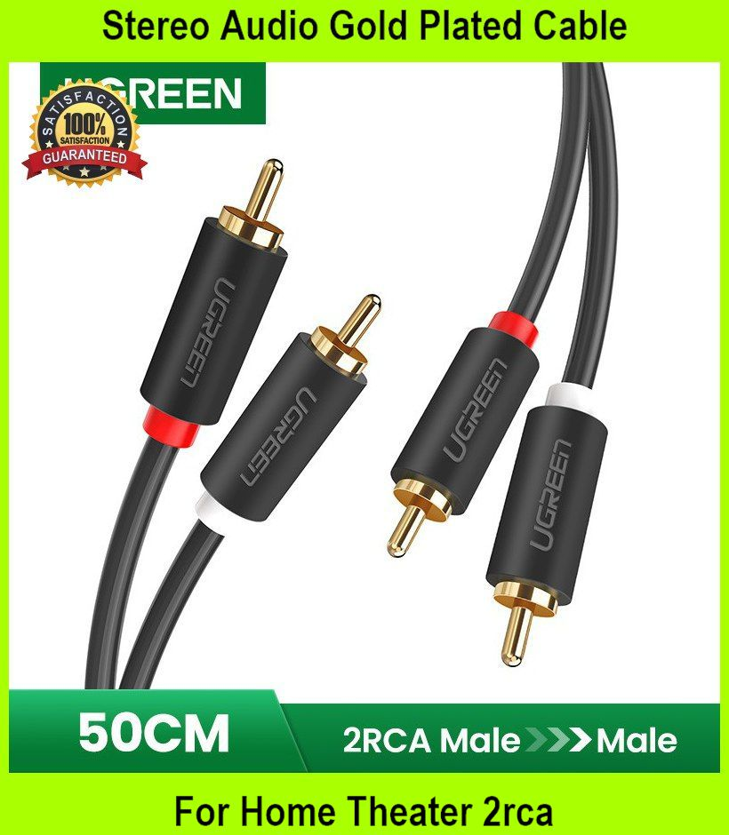 Stereo Audio Gold Plated Cable For Home Theater 2rca - [0.5M]