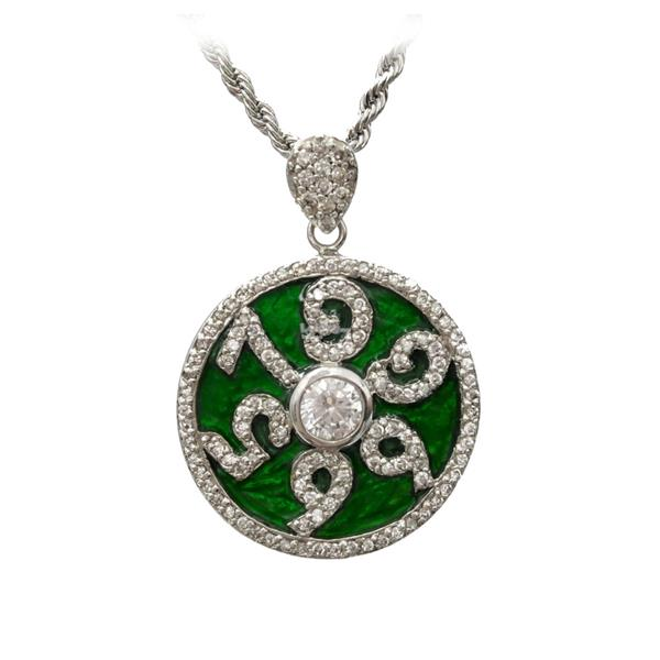 Sterling silver number pendant neckl end 492017 1115 am sterling silver number pendant necklace green qp07 aloadofball Image collections