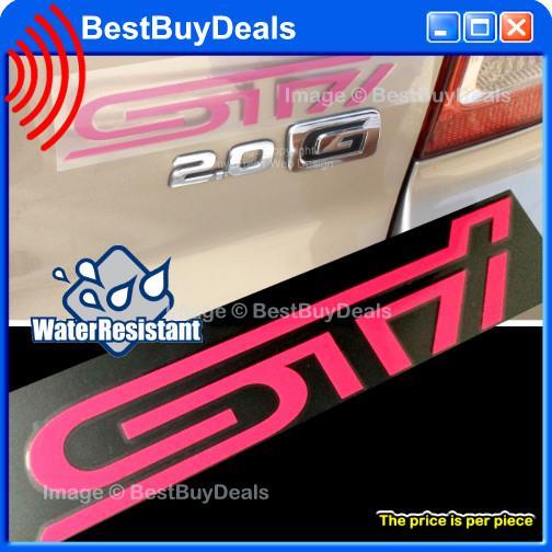 STI Pink Auto Car Decal Sticker Gra End PM - Best car sticker logo