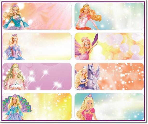 Name stickers 52pcs barbie