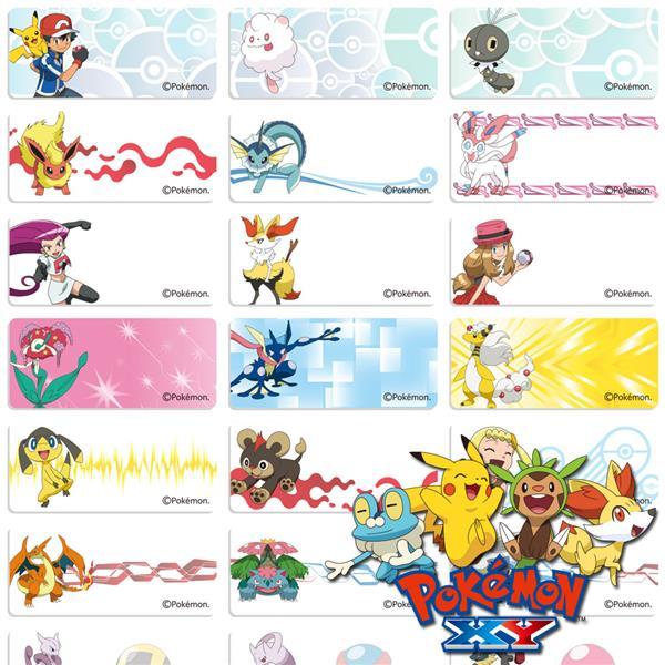 Name stickers 78pcs pokemon go