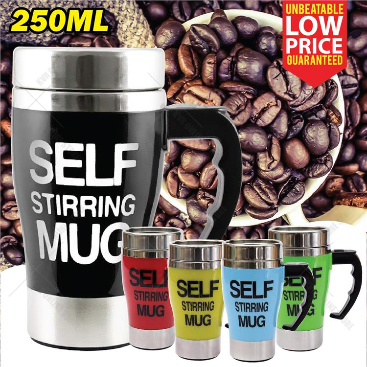 7e21ad6bfa7 Self Stirring Mug For Lazy People Auto Mix Home Office Stainless Steel
