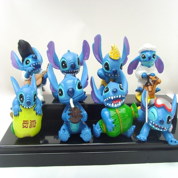 Stitch apple Figurine Set / Cake Topper (8 in 1)+ free sticker