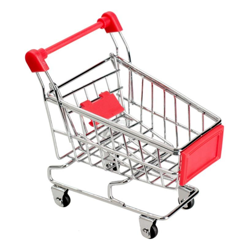 Stock Clearance Mini Shopping Cart Trolley Toy Pink