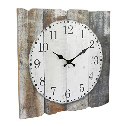 "..// Stonebriar Square 15 "" Rustic Farmhouse Worn Wood Arabic Number Wall"