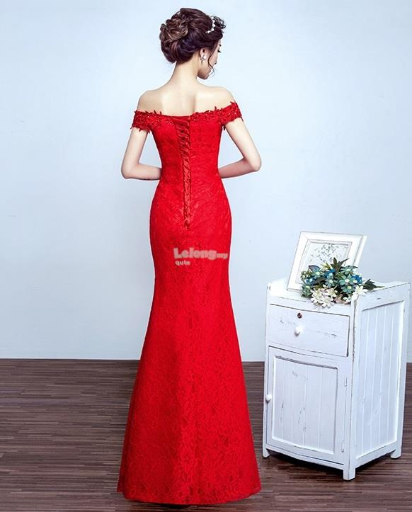 Strapless Lace Cheongsam for women