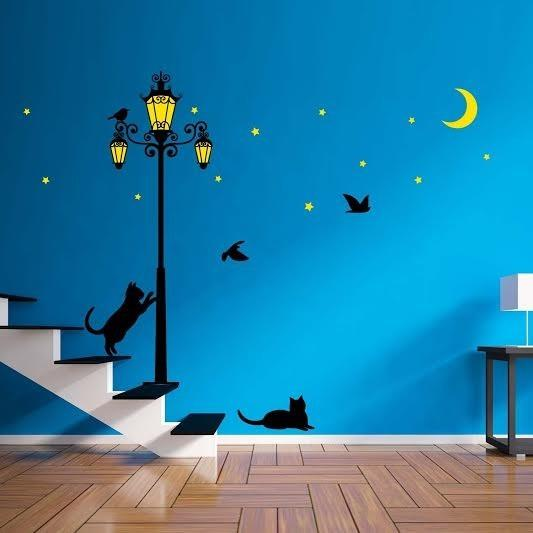 Street Light Glow In The Dark Wall Sticker