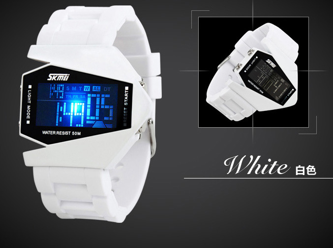 Strike Stylist SKMEI Digital Men Watch SKM0817 White