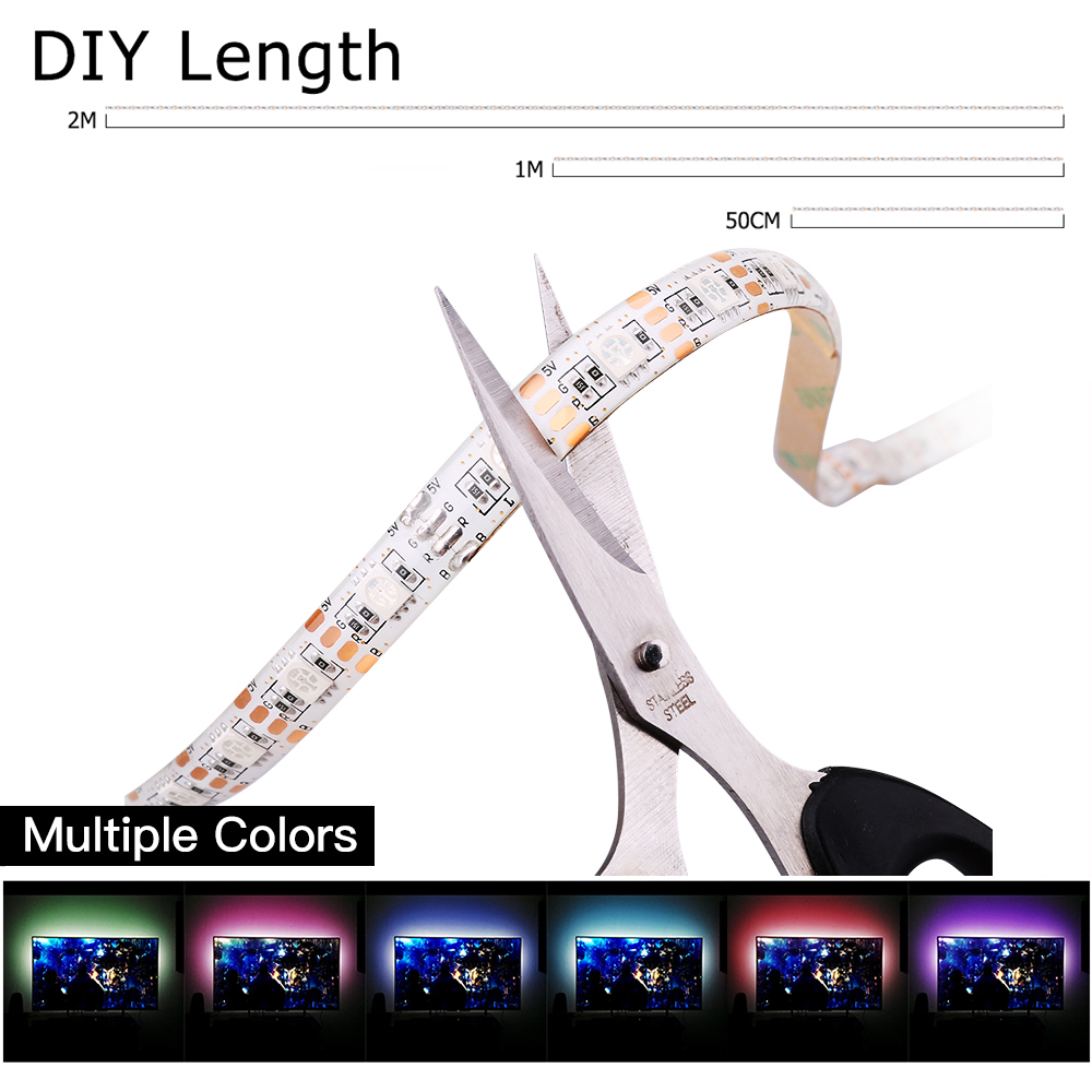 Strip Lights - Led Strip - ZDM 2m  Waterproof USB 5050 RGB Led Flexibl..