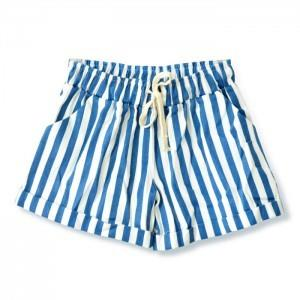 Stripe Loose Shorts (Light Blue)