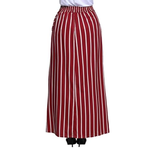 7ae2a58009 STRIPED POCKETS MAXI SKIRT (WINE RED (end 8/7/2020 12:31 PM)
