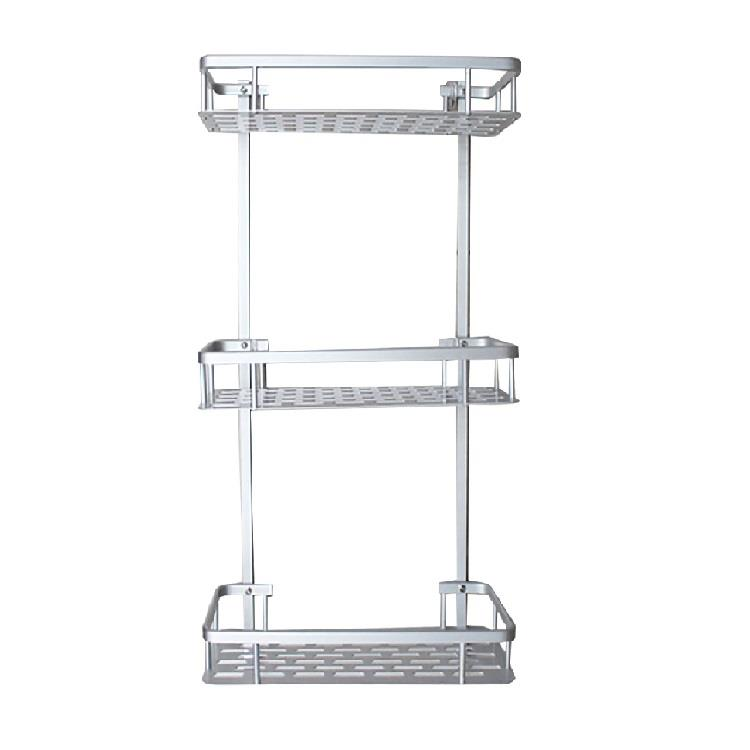 Strong adhesive wall mounted  square Shelf without drilling (3 tiers)
