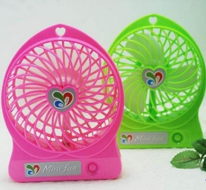 Strong Wind Cooling USB Portable Desk Electric Rechargeable Fan