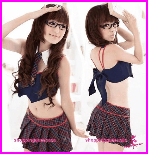 Student Uniform School Girl Dress Costume Cosplay Sexy Lingerie