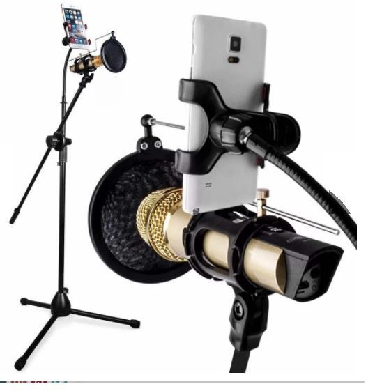 Studio Broadcasting Recording Microphone Kit Microphone Stand
