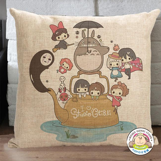 Studio Ghibli My Neighbor Totoro Cotton Linen Square Decorative Pillow