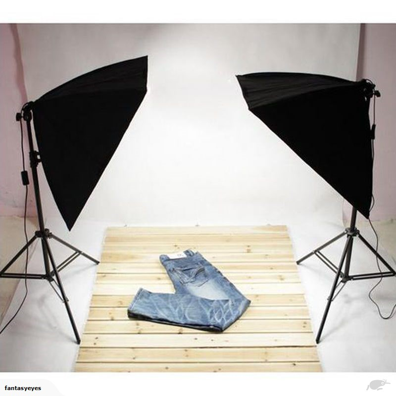 Studio Lighting Kit Softbox Light 4Socket Lamp Holder Photo Lampu