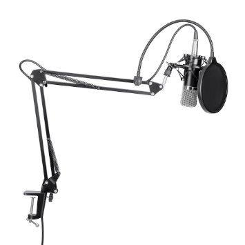 Studio Recording Suspension Boom Scissor Arm Stand Holder  Mic set