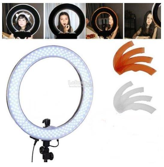 Studio ring light 18inch for makeup Videography Change Color