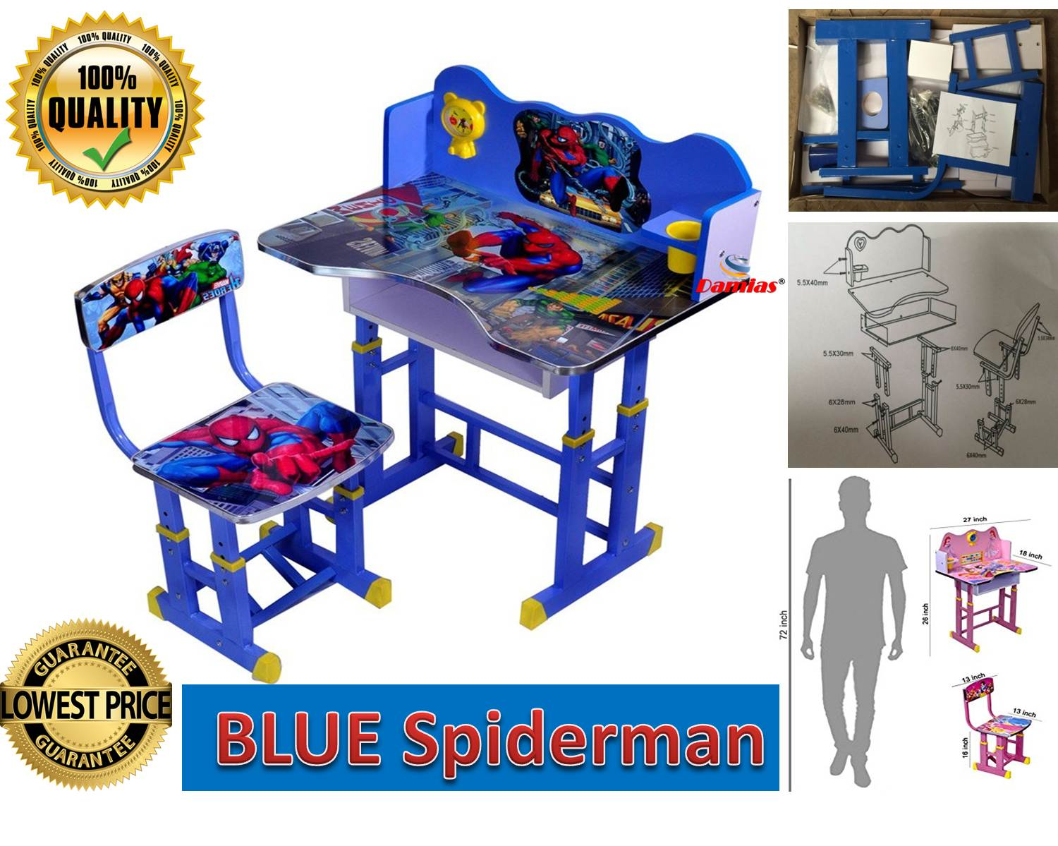 897de9059 Study Table and Chair Kid Set Meja (end 12 14 2020 12 00 AM)
