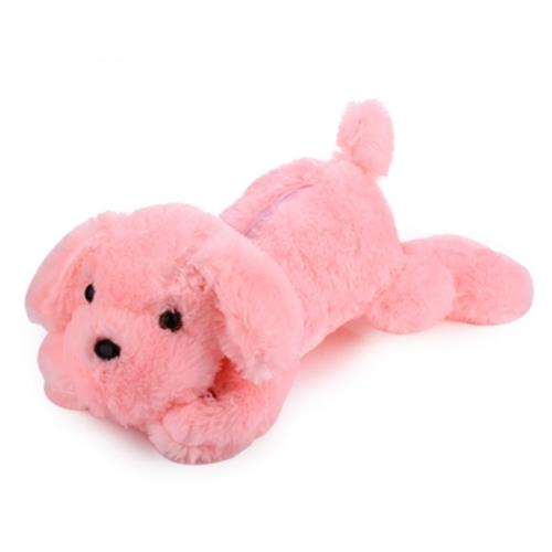STUFFED CUTE FLASHING DOG PLUSH DOLL TOY GIFT FOR BABY (PINK)