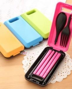 New Style Tableware Chopstick Spoon Fork 3 in 1 sets