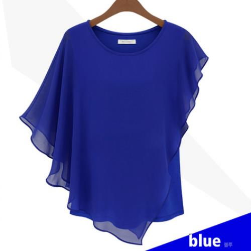stylish chiffon top blue