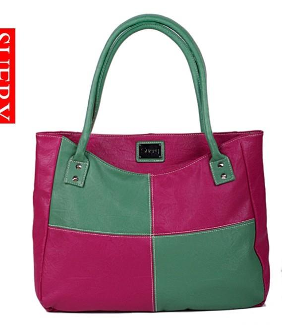 Stylish Color Matching Check All Match Bag