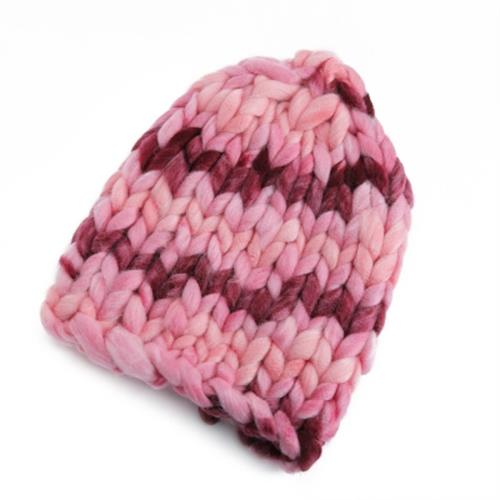 5fa67878ef84d STYLISH FEMALE WINTER WARM THICK STICK KNITTED HAT COARSE LINES CROCHE
