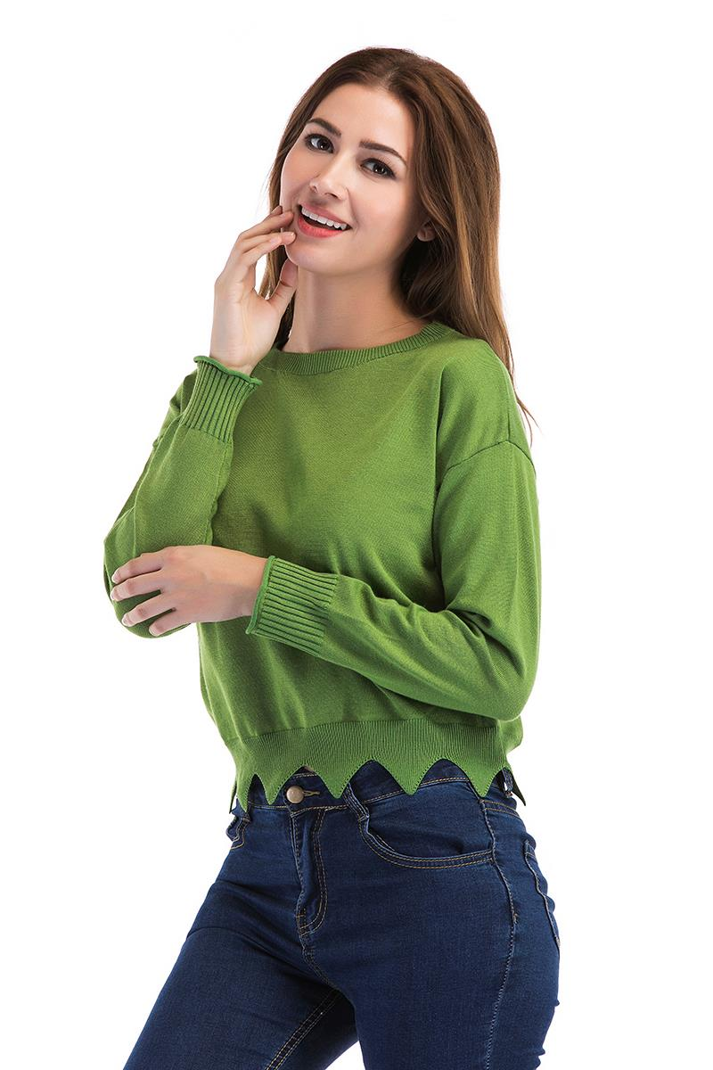 Stylish Knit Top Green